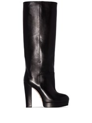 Gucci Britney 95 Knee High Boots Black