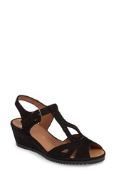 Ara Women's Wedge Sandal Black