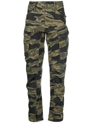 G Star Camouflage Cargo Trousers Green