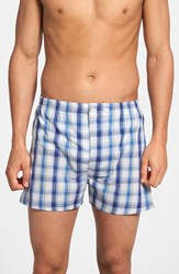 Men's Big And Tall Nordstrom Classic Fit Cotton Boxers Blue Green