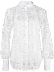 Marchesa Pearl Button Lace Shirt 60