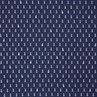 Motif Personnel Aime Comme Marie Pineapple Print Fabric Navy Silver