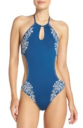 Lucky Brand Women's Stitch In Time One Piece Swimsuit