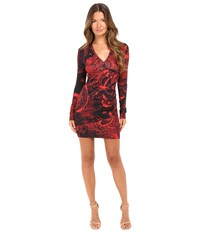 Just Cavalli Rock Romance Bodycon Jersey Dress Corallo Red