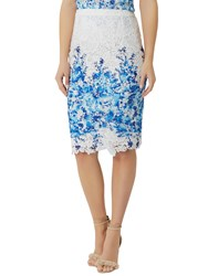 Damsel In A Dress Amily Skirt White Blue