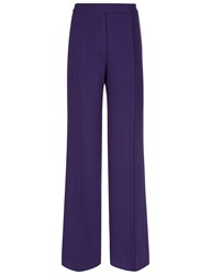 Marco De Vincenzo Purple Wool Button Detail Trousers Blue