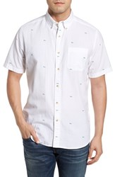 Southern Tide Catch Of The Day Sport Shirt Classic White