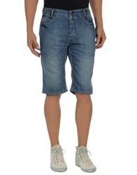 Firetrap Denim Bermudas Blue