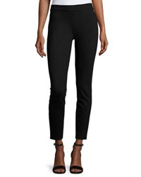 Max Studio Skinny Leg Heavy Ponte Pants Black