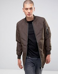 Brave Soul Longline Jacket Brown