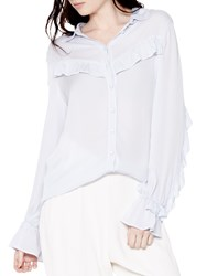 Ghost Lena Blouse Pearl Grey
