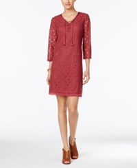 Styleandco. Style Co. Lace Peasant Dress Only At Macy's Pale Raspberry