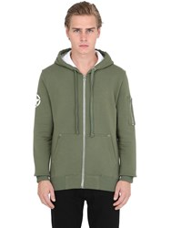 Alpha Industries Army Hooded Zip Up Cotton Sweatshirt