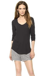 A.L.C. Long Sleeve Scoop Neck Tee Charcoal