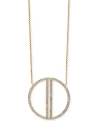 Effy Diamond Circle Pendant Necklace 1 Ct. T.W. In 14K Gold Yellow Gold