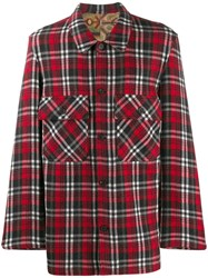 Pierre Louis Mascia Plaid Shirt Red