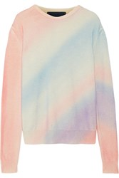 The Elder Statesman Degrade Cashmere Sweater Pastel Pink