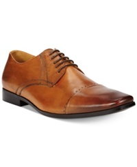 Bar Iii Jadon Cap Toe Oxfords Men's Shoes Dark Tan