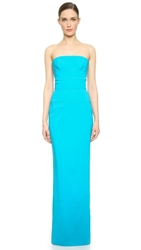 Viktor And Rolf Strapless Gown Turquoise