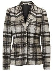 Betty Barclay Tailored Check Blazer Black Beige