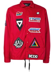 Ktz Multi Patched Jacket Men Nylon L Red