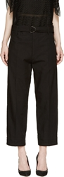 Isabel Marant Black Cropped Onos Trousers