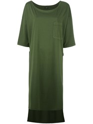 Aspesi High Low Hem Dress Green