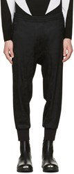 Neil Barrett Black Wool Camo Slouch Trousers