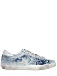 Golden Goose Super Star Bleached Denim Sneakers