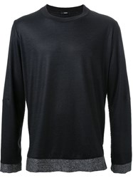 Assin Fur Panel Jumper Black