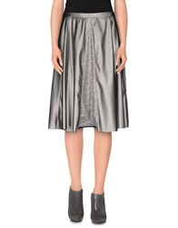 Giorgia And Johns Knee Length Skirts Silver