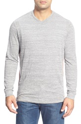 Tommy Bahama 'Sunday's Best' Long Sleeve V Neck T Shirt Grey Heather