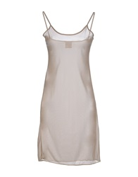 Nude Short Dresses Beige