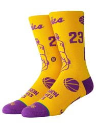 Stance Lebron Stencil Socks Yellow