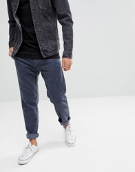 United Colors Of Benetton Slim Fit Chinos With Drop Crotch In Chunky Cord 144 Dark Grey