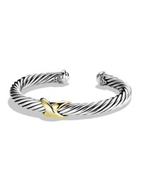X Bracelet With Gold David Yurman
