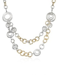 A Z Collection Crystal Chain Opera Necklace Gold