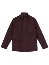 Dash Waxed Jacket Wine Purple