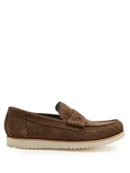 Grenson Ashley Suede Penny Loafers Grey