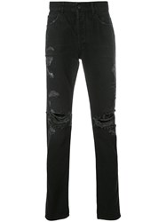 Marcelo Burlon County Of Milan Wing Slim Fit Jeans Cotton Polyester Viscose Black
