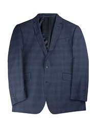 Pierre Cardin Men's Barlow Check Big Andtall Jacket Blue