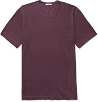 James Perse Slim Fit Combed Cotton Jersey T Shirt Purple