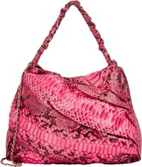 Zagliani Python Frida Shoulder Bag Pink