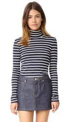 Petit Bateau 1X1 Iconic Striped Turtleneck Smoking Coquille