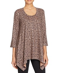 Nally And Millie Leopard Print Asymmetric Tunic Multi
