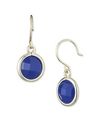 Anne Klein Cobalt Drop Earrings Blue