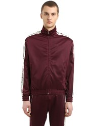 Represent Logo Band Zip Up Track Jacket Bordeaux