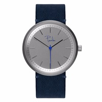 Paulin Watches Navy And Brushed Steel Blue Silver