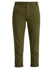 The Great Miner Low Slung Cotton Trousers Khaki