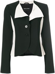 Giorgio Armani Vintage Color Block Blazer Black